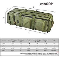 Purpume 3 Layer Fishing Bag Backpack 80Cm/100Cm Fishing Rod