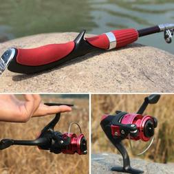 Fishing Combo Glass Fiber Telescopic Fishing Rod and Reel ca