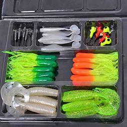 Fishing Gear Fishing Tackle Set - 35pcs Soft Worm Lure Carp