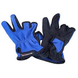 EzGoo Fishing Gloves 3 Low-cut Fingers Skidproof Non Slip Fi