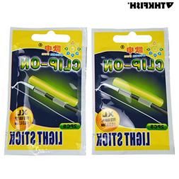 thkfish Fishing Glow Sticks, 20pcs(10bags) XL# Dia:3.3x3.7