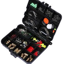 Goture 128pcs Fishing Accessories Hook/Spoon/Sinker/Swivel/S