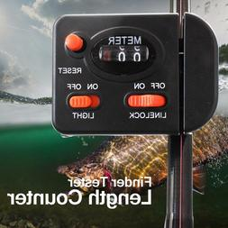 Fishing Line Counter Clip On Rod Meter Gauge Depth Finder Di