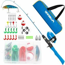 PLUSINNO Kids Fishing Pole with Travel Bag, Telescopic Fishi