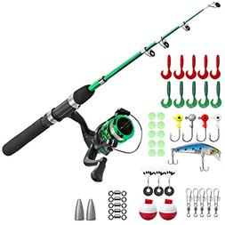 PLUSINNO Kids Fishing Pole,Light and Portable Telescopic Fis