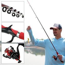 AzBoys Kids Fishing Pole Combo Set,Portable Telescopic Fishi