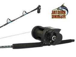 FISHING REEL ELECTRIC KRISTAL XL638 WITH ROD HALIBUT FOR DEP