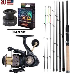 Fishing Rod and Reel Combo Full Kit Fishing Pole with Spinni