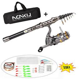 fishing rod and reel combo kit spinning