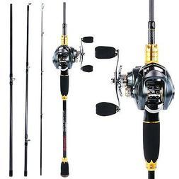 Sougayilang Fishing Rod and Reel Combos,24-Ton Carbon Fiber