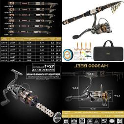 Plusinno Fishing Rod And Reel Combos - Carbon Fiber Telescop
