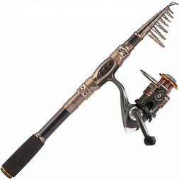 Plusinno Fishing Rod And Reel Combos Carbon Fiber Telescopic