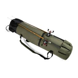 Fishing Rod Carry Case Portable Tackle Reel Storage Organize