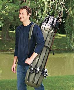 Fishing Rod Case Organizer. Carrier Holder Rack Hooks Pole S