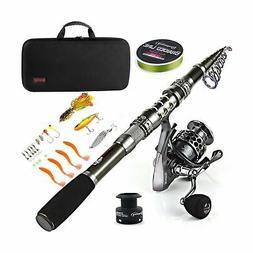Sougayilang Fishing Rod Combos with Telescopic Fishing Pole