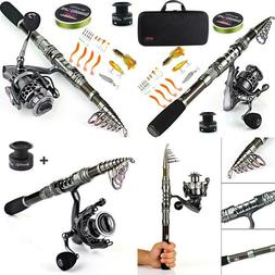 Fishing Rod Combos With Telescopic Fishing Pole Spinning Ree
