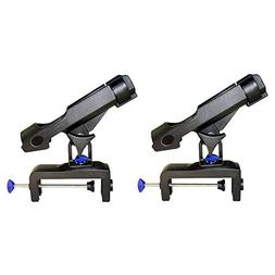 NUZAMAS Set of 2 Fishing Rod Holder Adjustable 360 Degrees R