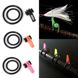 Fishing Rod Pole Hook Keeper Lure Spoon Bait Holder Tackle T