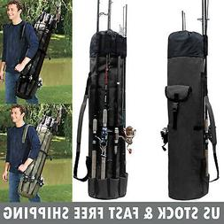 Fishing Rod Pole Reel Tackle Accessories Storage Shoulder Ba