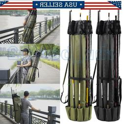 Fishing Rod Pole Reel Tackle Holdall Bags Storage Shoulder C