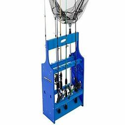 Wakeman Fishing Rod Rack- Plastic Floor Storage Holder, Orga