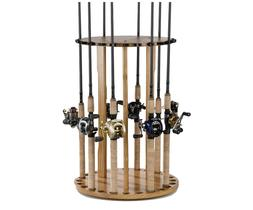 Fishing Rod Rack Standing Organizer Holder Floor Round Garag
