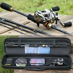 Sougayilang Fishing Rod Reel Combo Carbon Fiber 4 Piece Cast