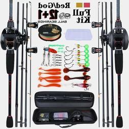 Fishing Rod Reel Combo Carbon Fiber Baitcasting Crankhook Mi