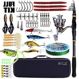 Sougayilang Fishing Rod and Reel Combos, Portable Telescopic