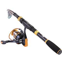 a2d022c06b0 Editorial Pick Sougayilang Fishing Rod Reel Combos Carbon Fiber Telescopic