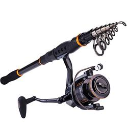 Sougayilang Fishing Rod Reel Combos Carbon Telescopic Fishin