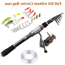 PLUSINNO Fishing Rod Reel Combos Carbon fiber Telescopic Fis