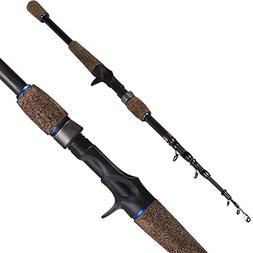 Sougayilang Fishing Rod Sapphire Baitcasting Telescopic Trav