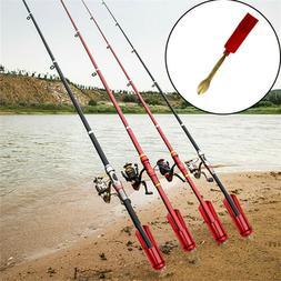 Fishing Rod Stand Pole Holder Plug Insert Ground Adjustable