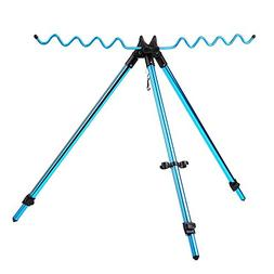Lixada Fishing Rod Tripod Stand Portable Aluminum Telescopic