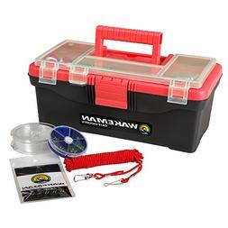 Wakeman Fishing Single Tray Tackle Box- 55 Piece Tackle Gear