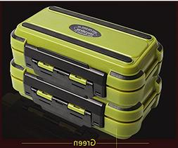 Fishing Tackle Box Compartments 4Color Fish Lure Line Hook F