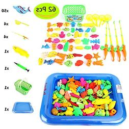 Od-sport Magnetic Fishing Game for Toddlers, 2Pcs Catch and