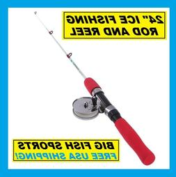 FISHON ICE Fishing Rod And Reel Combo 2' Length Medium 2 Pie