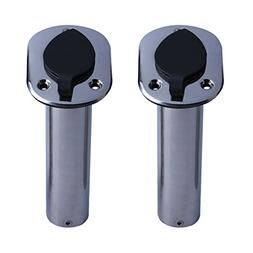 2PCS 15 Degree Flush Mount Rod Holder inc UV PVC Liner