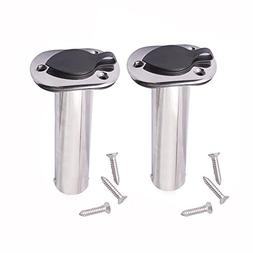 M-ARINE BABY 2PCS Flush Mounting Fishing Rod Holders - 90 De