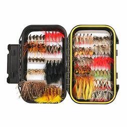 FISHINGSIR 100PCS Fly Fishing Flies Kit Assorted Flies Trout
