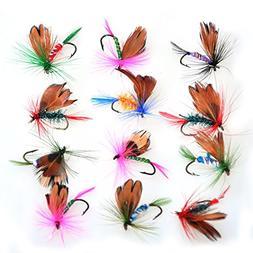 Piscifun 12pcs Fly Fishing Flies Kit Butterfly Like Trout Ba