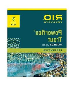 Rio Fly Fishing Leaders Powerflex Knotless 12Ft 5X Leaders 3