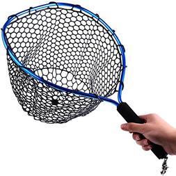 Sougayilang Fly Fishing Net Aluminum Landing Net with Soft R