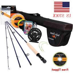 Fly Fishing Rod Combo 9FT 5WT Fly Fishing Line Fly Reel Fly
