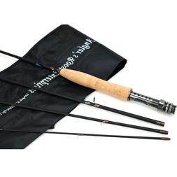 Fly Rod Fly Fishing Rod Graphite Medium Fast Rod 8' 9' for 3