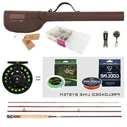 FISHINGSIR Fly Fishing Rod and Reel Combo for Trout Anglers