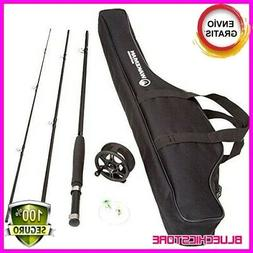 Fly,Fishing Rod Reel Combo Kit Case Pole Angler Trout Bass R