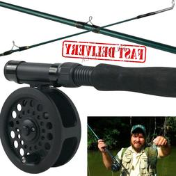 Fly Fishing Rod Reel Combo Kit Fish Equipment Leader Line Ca